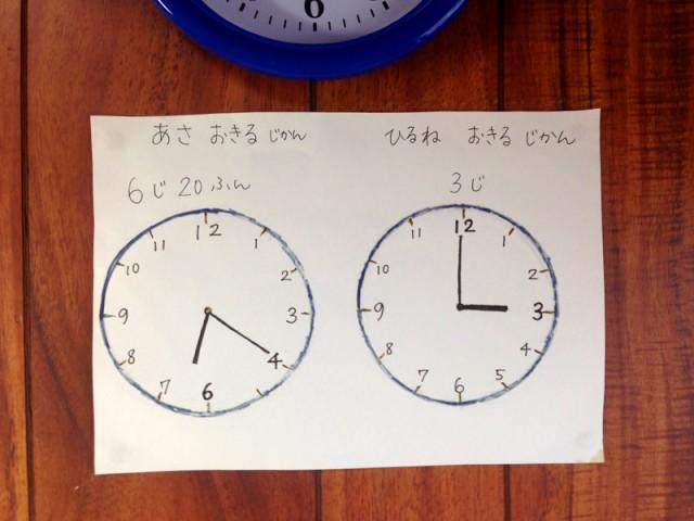 自閉症スペクトラムな娘への時計イラスト